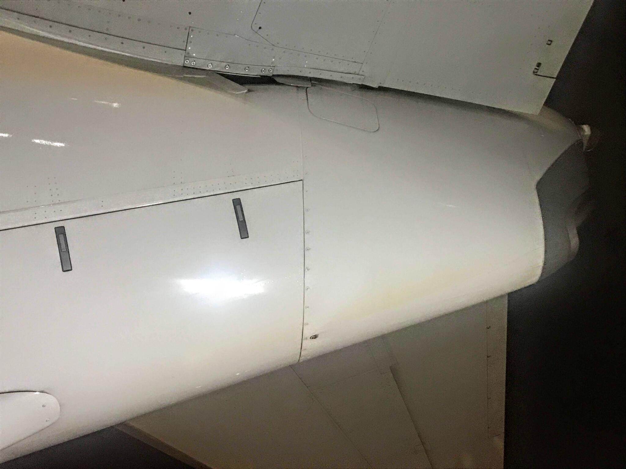 飛行機のおしり